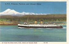 C.P.R. Steamship Princess Patricia & Mount Baker Postcard c1950