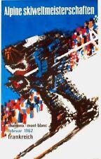 Original vintage poster ALPINE SKI WC 1962 CHAMONIX MONT-BLANC