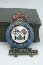 BRITISH GRAND PRIX 1974 ENAMEL PIN BADGE BROOCH - VAUGHTON'S