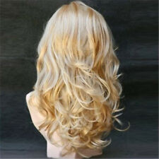 Women Bangs Hair Full Water Wave Curly Wig Synthetic Hair Wigs Cosplay Party