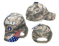 USAF United States Air Force USA Flag Digital ACU Camo Embroidered Cap Hat