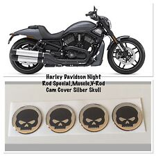 Night Rod Special, muscle, V-Rod CAM COVER ARGENTO SKULL