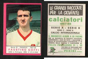 Figurina Calciatori Panini 1967-68 Goffi (Padova) Ottima Orig. GARANTITA RARA ▓