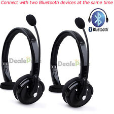 2x Handsfree Mic Boom Headset Headphone Over Head For Trucker Wireless Bluetooth