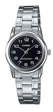 "NEW Casio LTP-V001D-1B Women's Stainless Steel Watch ""EASY-READER"" Black Dial"