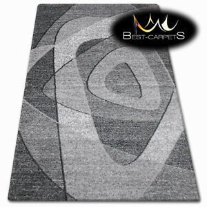 Thick Quality 20mm Modern Design Densely very Soft Rugs SHADOW 8594 black grey