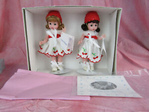 "Madame Alexander 8"" Doll Set Cherry Twins # 17700 NMIB 1999"