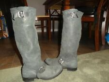 Mayura women Engineer boots 39 eur 8 US Tall SOFT leather blue/gray buckle SPAIN