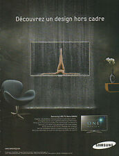 Publicité 2011  //   SAMSUNG  LED TV Série D8000  ONE DESIGN