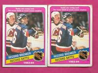 2 X 1984 85 OPC # 392 ISLANDERS PAT LAFONTAINE RB ROOKIE CARD (INV#C1947)