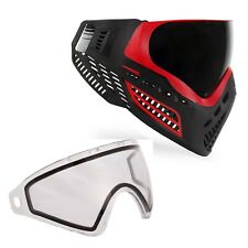 Virtue VIO Ascend Paintball Goggle and Spare Lens Bundle - Red Smoke / Clear
