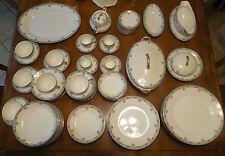 89 Pc Noritake CHANAZURE Green M Wreath Porcelain China Many Serving Pcs.