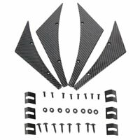 4x Front Bumper Lip Kit Diffuser Splitter Fins Body Spoiler Canards Valence Chin