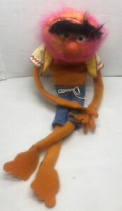 "Vtg 1978 Fisher Price Jim Henson Muppets Animal 24"" Plush Hand Puppet #854"