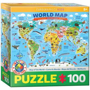 Eurographics 6100-5554 Weltkarte 100 Teile Puzzle