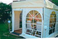 Terrassenüberdachung Pultdach Hausanbau 3x3m / vanillegelb - weiß