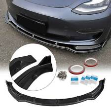 For 2017-2020 Tesla Model 3 Sedan Carbon Fiber Style Front Bumper Lip Spoiler