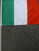 "ITALY FLAG 12X18 12"" X 18"" ITALIAN WOOD STICK NEW W12"