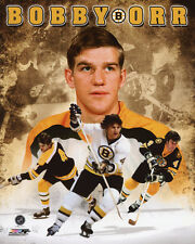 Boston Bruins BOBBY ORR Glossy 8x10 Photo Collage Hockey Print Poster