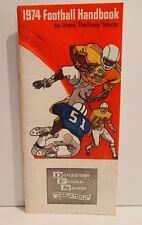"Jimmy ""The Greek"" Snyder 1974 Football Handbook"