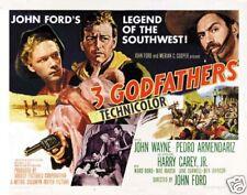 3 Godfathers John Wayne vintage movie poster