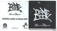 """Dane Cook - Isolated Incident 4"""" x 4""""prm sticker EX cnd"""