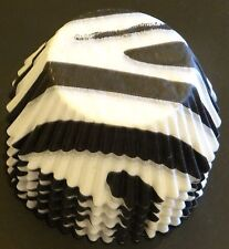50 Zebra Stripe Printed Cupcake Liners Baking Cups STANDARD SIZE BC-11-50 NEW