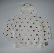 CHAMPION Reverse Weave All Over C Logo White Hoodie Sweatshirt Mens Size XL NEW