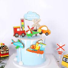 DIY Birthday Transportation Theme Cake Decoration Train Plane Set For Kids Party