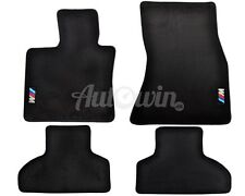 BMW X5 Series F15 Black Floor Mats With /// M Emblem Clip LHD Side