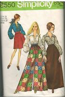 8550 Vintage Simplicity Sewing Pattern Misses Skirt Pants Blouse 1960's Style