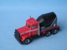 Matchbox Peterbilt Cement Mixer Truck Red Body Toy Model Car 75mm Boxed