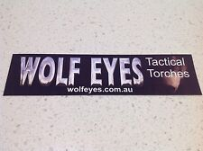 WOLF EYES  HUNTING OPTICS STICKER BARGAIN WINCHESTER BERETTA REMINGTON RIFLES 1