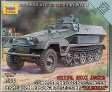 Zvezda 1/100 German Sd.Kfz. 251/1 Ausf.B. Personnel Carrier Z6127