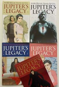 Jupiter's Legacy #1 to #5 complete series (image 2013) FN+ to VF/NM issues