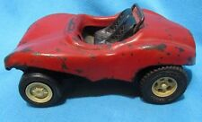 Vintage Red Tonka Dune Buggy Made in the USA Black interior Roll-bar