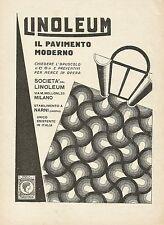 Y1201 LINOLEUM - Il pavimento moderno - Pubblicità 1930 - Advertising