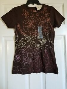 Girls' Arizona Chocolate Brown T-shirt Short Sleeve Brand New