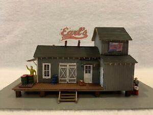 HO Scale Earl's Oil Company Wood Kit Custom Assembled