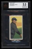 Rare 1909-11 T206 HOF Cy Young Bare Hand Sovereign 350 Cleveland BVG 5.5 EX +