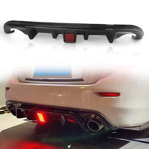 Carbon Fiber Look Rear Bumper Diffuser Lip for Infiniti Q50 2014-2017 W/ Light