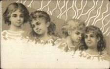 Art Nouveau PRETTY Little Girls - French Adv Chicoree Nouvelle Postcard c1910