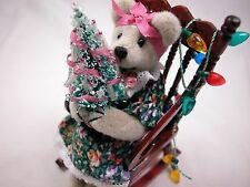 "World of Miniature Bears 4"" Cashmere Bear Grandma #852C Collectible Bear"