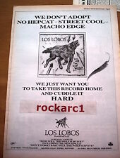 LOS LOBOS How Will The Wolf Survive 1985 UK Poster size Press ADVERT 16x12 inch