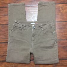 Style&Co Slim Leg Ankle Jeans Size 4PS Petite Short Brown Stretch Tummy Control