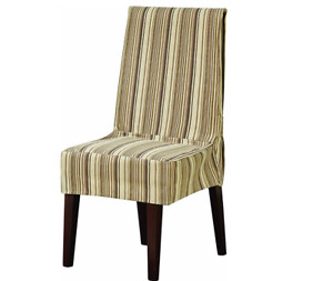 SURE FIT Harbor Stripe Dining Chair Slipcover Brown Multi Stripe New