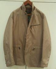 Aunthentic Canali Hombre Lluvia & Abrigo Chaqueta Resistente Al Viento/Talla 54/Beige