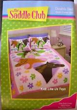 ~ Saddle Club - 3 HORSE DOUBLE DOONA QUILT DUVET COVER US Twin *Last One*