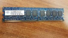 LOT OF 2 PCS. Nanya NT1GT72U8PB0BY-25D 1GB PC2-6400 DDR2-800MHz Dual Rank Memory