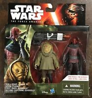 Star Wars Force Awakens Sidon Ithano First Mate Quiggold 3.75 2-Pack Set Mission